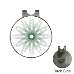 Spirograph Pattern Circle Design Hat Clips With Golf Markers