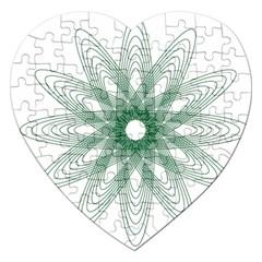 Spirograph Pattern Circle Design Jigsaw Puzzle (heart)