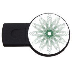 Spirograph Pattern Circle Design Usb Flash Drive Round (4 Gb)