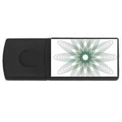 Spirograph Pattern Circle Design Usb Flash Drive Rectangular (4 Gb) by Nexatart