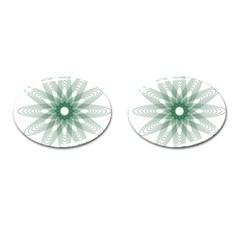 Spirograph Pattern Circle Design Cufflinks (oval) by Nexatart