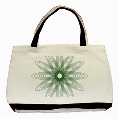 Spirograph Pattern Circle Design Basic Tote Bag