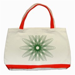 Spirograph Pattern Circle Design Classic Tote Bag (red)