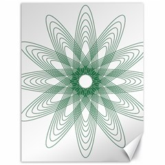 Spirograph Pattern Circle Design Canvas 18  X 24   by Nexatart