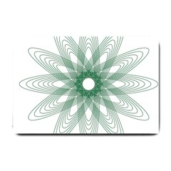 Spirograph Pattern Circle Design Small Doormat