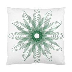 Spirograph Pattern Circle Design Standard Cushion Case (two Sides) by Nexatart