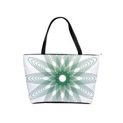 Spirograph Pattern Circle Design Shoulder Handbags