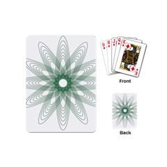 Spirograph Pattern Circle Design Playing Cards (mini)  by Nexatart
