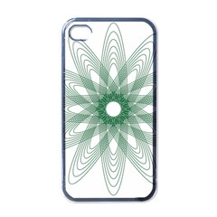 Spirograph Pattern Circle Design Apple Iphone 4 Case (black)