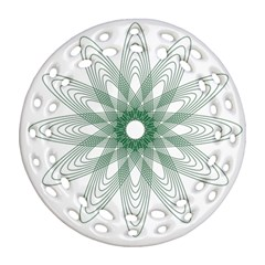 Spirograph Pattern Circle Design Ornament (round Filigree) by Nexatart