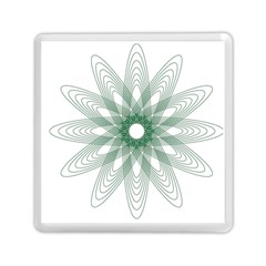 Spirograph Pattern Circle Design Memory Card Reader (square)