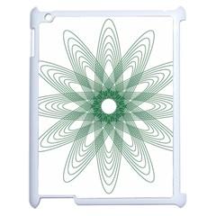 Spirograph Pattern Circle Design Apple Ipad 2 Case (white)