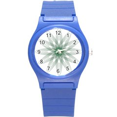 Spirograph Pattern Circle Design Round Plastic Sport Watch (s)