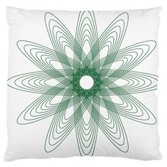Spirograph Pattern Circle Design Large Cushion Case (two Sides)