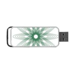 Spirograph Pattern Circle Design Portable Usb Flash (two Sides) by Nexatart