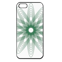 Spirograph Pattern Circle Design Apple Iphone 5 Seamless Case (black)