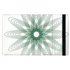 Spirograph Pattern Circle Design Apple Ipad 3/4 Flip Case by Nexatart
