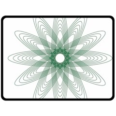 Spirograph Pattern Circle Design Double Sided Fleece Blanket (large)