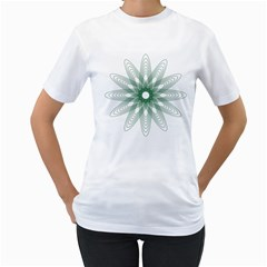 Spirograph Pattern Circle Design Women s T Shirt (white)  by Nexatart