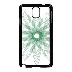 Spirograph Pattern Circle Design Samsung Galaxy Note 3 Neo Hardshell Case (black) by Nexatart
