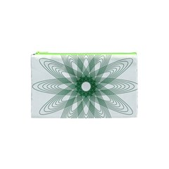 Spirograph Pattern Circle Design Cosmetic Bag (xs)