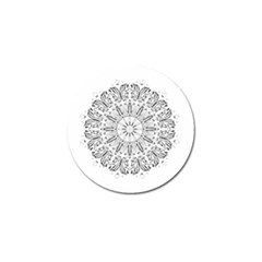 Art Coloring Flower Page Book Golf Ball Marker (4 Pack)