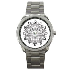 Art Coloring Flower Page Book Sport Metal Watch