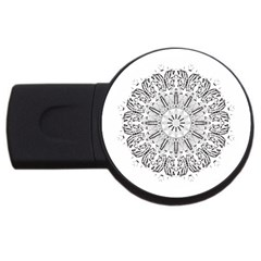 Art Coloring Flower Page Book Usb Flash Drive Round (4 Gb)