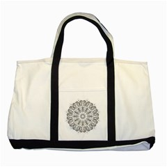 Art Coloring Flower Page Book Two Tone Tote Bag