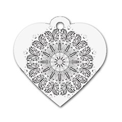 Art Coloring Flower Page Book Dog Tag Heart (one Side)