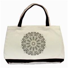 Art Coloring Flower Page Book Basic Tote Bag (two Sides)
