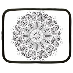 Art Coloring Flower Page Book Netbook Case (xxl)