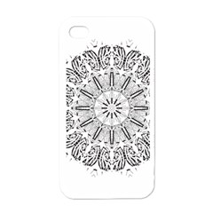 Art Coloring Flower Page Book Apple Iphone 4 Case (white) by Nexatart