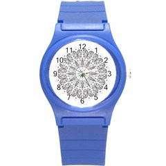 Art Coloring Flower Page Book Round Plastic Sport Watch (s) by Nexatart