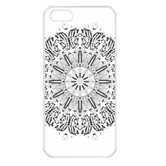 Art Coloring Flower Page Book Apple Iphone 5 Seamless Case (white) by Nexatart