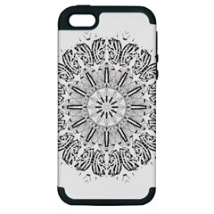 Art Coloring Flower Page Book Apple Iphone 5 Hardshell Case (pc+silicone) by Nexatart