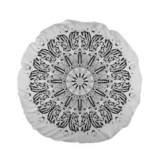 Art Coloring Flower Page Book Standard 15  Premium Round Cushions