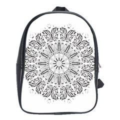 Art Coloring Flower Page Book School Bags (xl)  by Nexatart