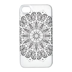 Art Coloring Flower Page Book Apple Iphone 4/4s Hardshell Case With Stand by Nexatart
