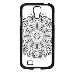 Art Coloring Flower Page Book Samsung Galaxy S4 I9500/ I9505 Case (black)