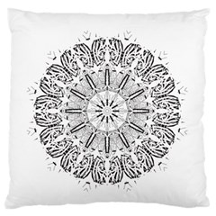 Art Coloring Flower Page Book Standard Flano Cushion Case (one Side)