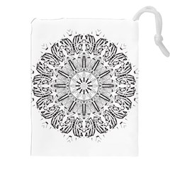 Art Coloring Flower Page Book Drawstring Pouches (xxl) by Nexatart