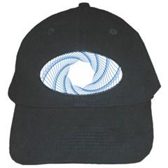 Spirograph Spiral Pattern Geometric Black Cap by Nexatart
