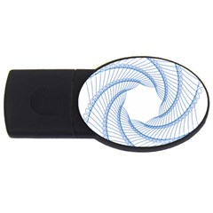 Spirograph Spiral Pattern Geometric Usb Flash Drive Oval (2 Gb)