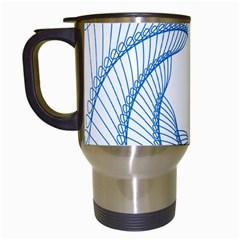 Spirograph Spiral Pattern Geometric Travel Mugs (white) by Nexatart