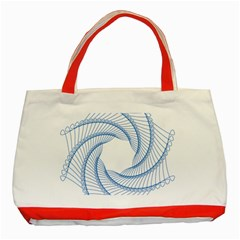Spirograph Spiral Pattern Geometric Classic Tote Bag (red) by Nexatart