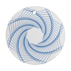 Spirograph Spiral Pattern Geometric Round Ornament (two Sides)