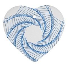 Spirograph Spiral Pattern Geometric Heart Ornament (two Sides)