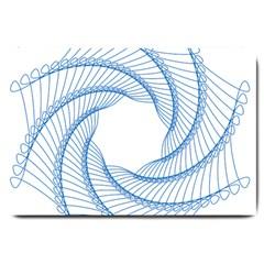 Spirograph Spiral Pattern Geometric Large Doormat
