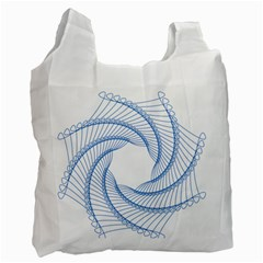 Spirograph Spiral Pattern Geometric Recycle Bag (one Side)
